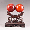 A Pair Chinese Beautiful Color Ox Horn Gymnastic Ball