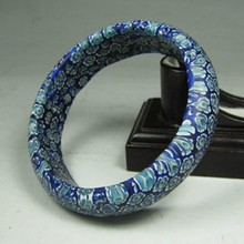 Old Handmade Inside Diameter 62mm Chinese Peking / Beijing Glass Bracelet