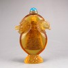 Chinese Beijing / Peking Glass Snuff Bottle - Dragon Head & Phoenix Head
