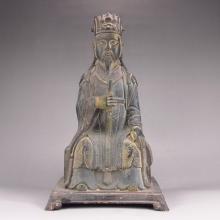 Chinese Bronze Statue - Fortune Taoism Deity