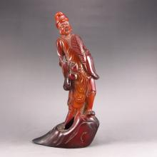 Vintage Hand Carved Chinese Ox Horn Statue - Buddha Jigong