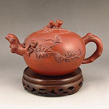 Beautiful Handmade Chinese Yixing Zisha Clay Teapot Artist Signed