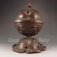 Chinese Bronze Incense Burner & Lid