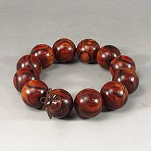 Hand Carved Chinese Natural Hua Li Wood Bracelet
