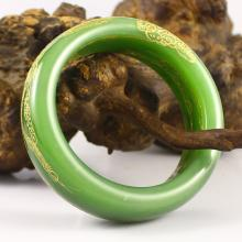 Inside Diameter 53 mm Hand-carved Chinese Natural Hetian Jade Bracelet