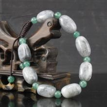 Hand Carved Chinese Natural Hetian Jade Beads Bracelet