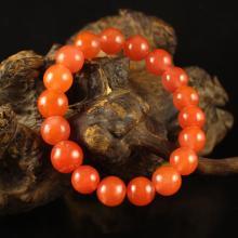 Beautiful Color Chinese Natural Nanhong Agate Beads Bracelet