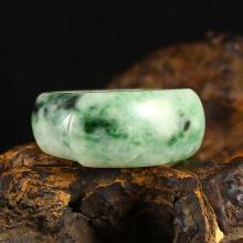 Superb Hand Carved Natural Jadeite / Jade Ring