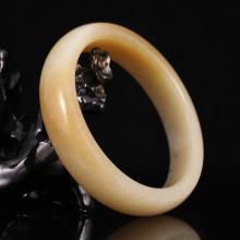 Internal Diameter 57mm Chinese Natural Hetian Jade Bracelet