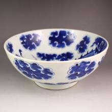 Hand-painted Chinese Blue And White Porcelain Bowl