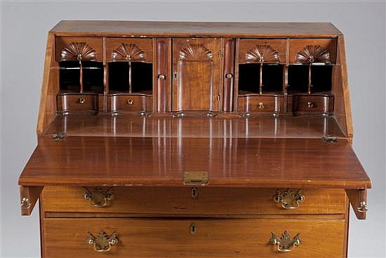 Walnut Slant Front Desk, Ca. 1900