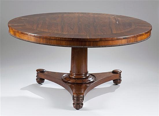 Rosewood Dining Table, Ca. 1840