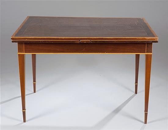 Mahogany Hepplewhite Style Table,