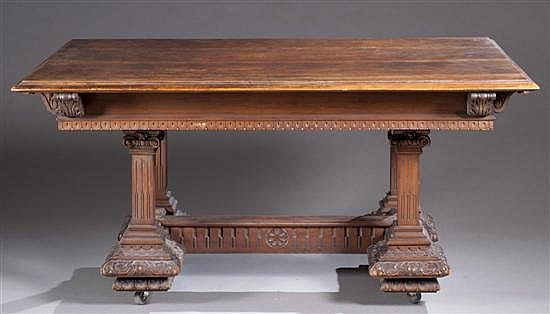 Late 19th Century Carved Walnut Dining Table