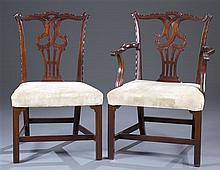 Twelve (12) George III Style Mahogany Chairs