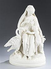 19th Century Parian Ware Porcelain Figural Group