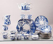 Royal Crown Derby Partial Luncheon Set in Mikado Pattern