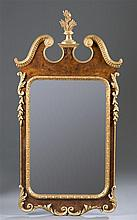 20th Century Roccoco Style Gilt Trimmed Mirror