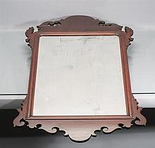 18th Century Mahogany and Burl Veneer Chippendale Period Mirror