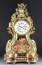 Louis XV Style Gilt Bronze and Tortoiseshell Mante Clock on Stand