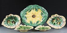 Assortment of Five Pieces of Majolica