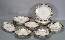 Nineteen Haviland Limoges Partial Porcelain Dining Set