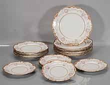 Fifteen J. Pouyat Limoges Porcelain Plates