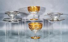 Collection of Finger Bowls, Underplates and Goblets, Six Pieces