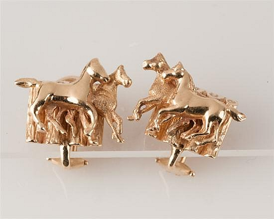 14K Yellow Gold Ear Clips, 10.8 grams,
