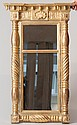 American Regency Style Wall Mirror, Wear, Absent 2 Acorns