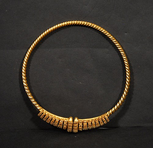French Museum Replica Torc Necklace Saint-Raymond Toulouse