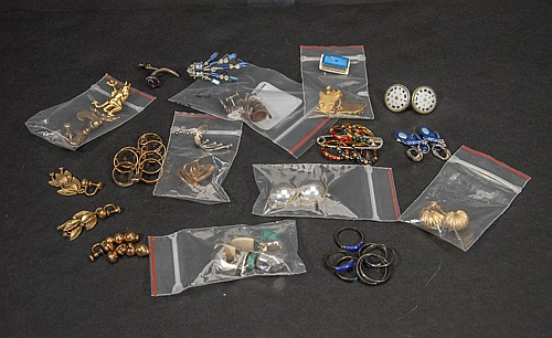 Tray Lot of Sterling and Gold Filled Rings and Earrings