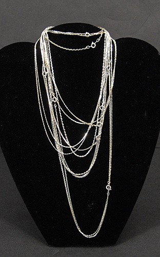 Mixed lot of Unmarked Silver Chains