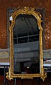 Gilt Framed Mirror with Arched Top
