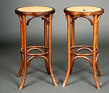 Pair of Cane Top Side Tables