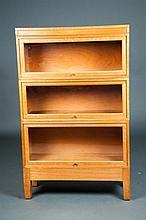 Three Tier Oak Barrister Bookcase