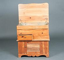 Lift Top Pine Dry Sink