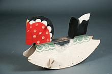 Folk Art Wooden Rocking Horse
