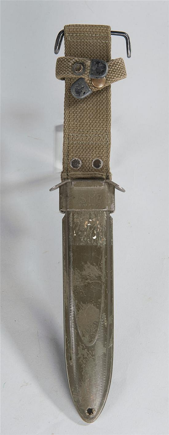 US M-8 scabbard for M-1 carbine bayonet