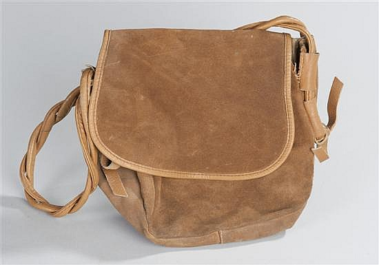 Leather hunting bag complete with shoulder strap.