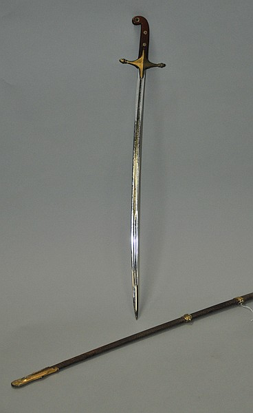 Circa-1900 United States Marine Corps officer' Mamaluke' sword complete with metal scabbard