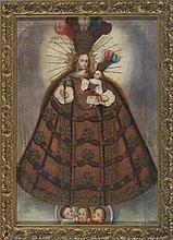18th c. Virgin & Child Painting