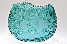 Fenton Cameo Glass Pot,