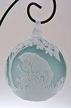 Pilgrim Cameo Glass Ornament,
