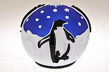 Pilgrim Cameo Glass Paperweight,