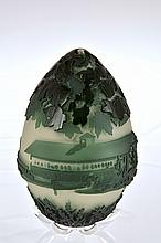 Pilgrim Cameo Glass Egg,