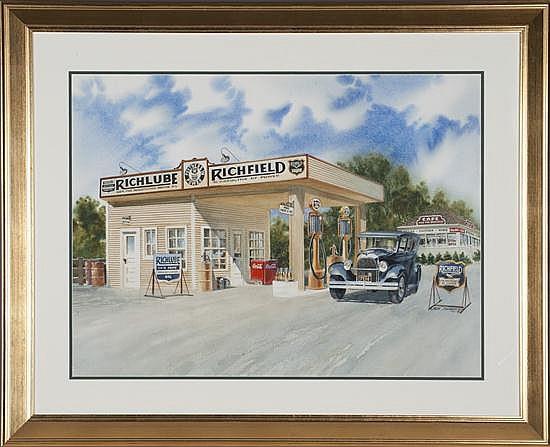Jack Schmitt, Partners in Power, watercolor on Paper, Od: 32 H x 39 W Id: 23 H x 30 W