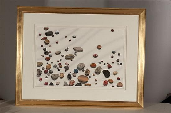 George Dombeck, Stones #4, Watercolor on Paper, Od: 34 H x 43 W Id: 29 H x 20 W