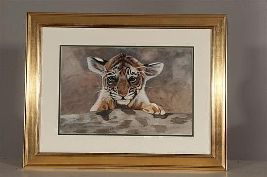 Conny Devanney, Boooo!, Watercolor on Paper, Od: 22 1/2 H x 29 W Id: 12 1/2 H x 19 W
