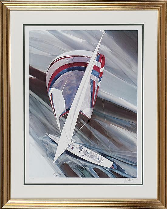 Willard Bond, Cup Contender, Print, Od: 38 H x 30 W Id: 28 1/2 H x 20 W